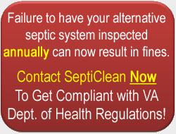 SeptiClean Provides AOSS Maintenance Contracts in Virginia
